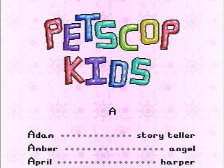 The Book of Baby Names, showing the first three 'Petscop Kids'