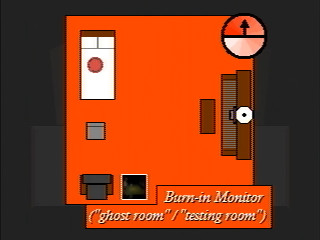Burn-in Monitor, showing the 'ghost room / testing room'