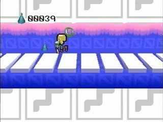 A player collecting Pieces in Pen's Room.