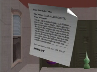 Tiara's 'New Life Letter' as seen in-game